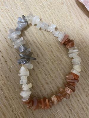 Chip Bracelet: Mixed Moonstone