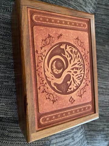 Tree and Moon Tarot/Oracle Card Box