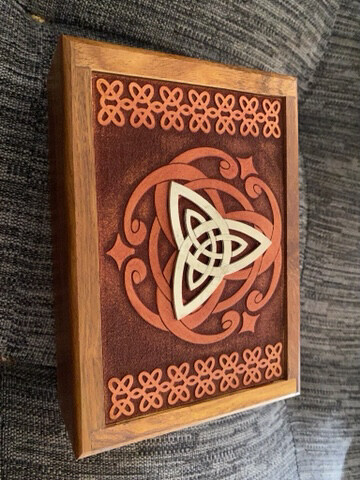 Metal Triquetra Tarot/Oracle Card Box