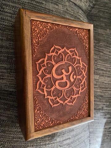 Om in Lotus Tarot/Oracle Card Box