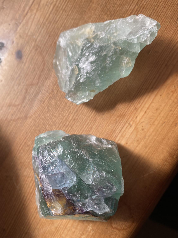 Green Fluorite Raw