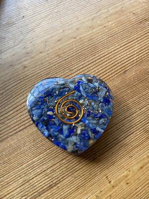 Lapis Lazuli Orgonite Heart Small