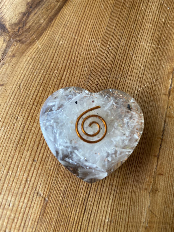 Rainbow Moonstone Orgonite Heart Small