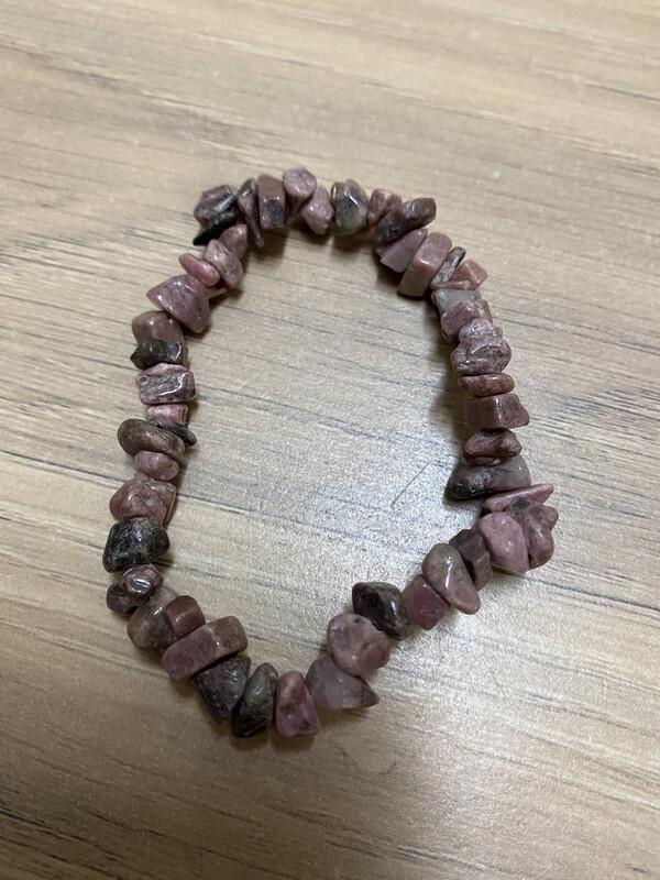 Chip Bracelet: Rhodonite