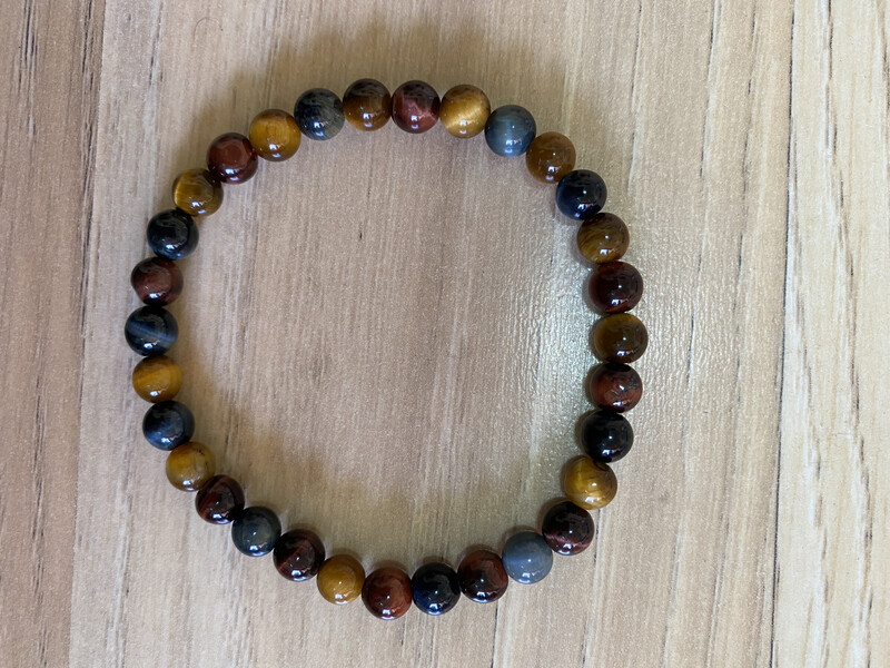Chip Bracelet: Mixed Tiger's Eye Bead