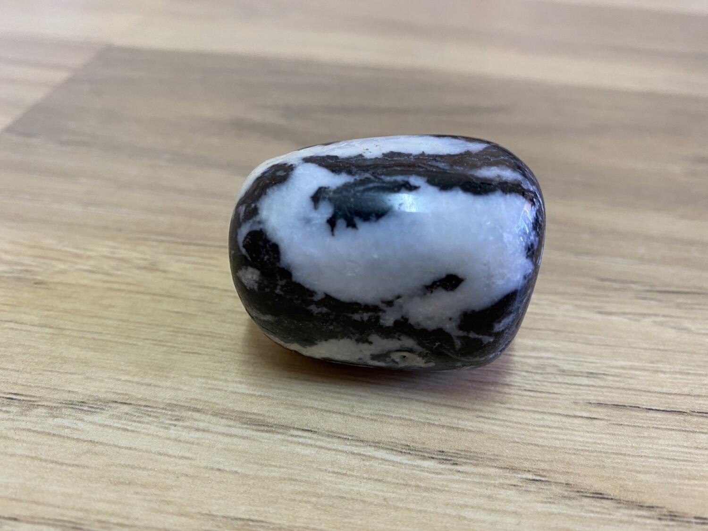 Zebra Jasper Marble tumble (LARGE)