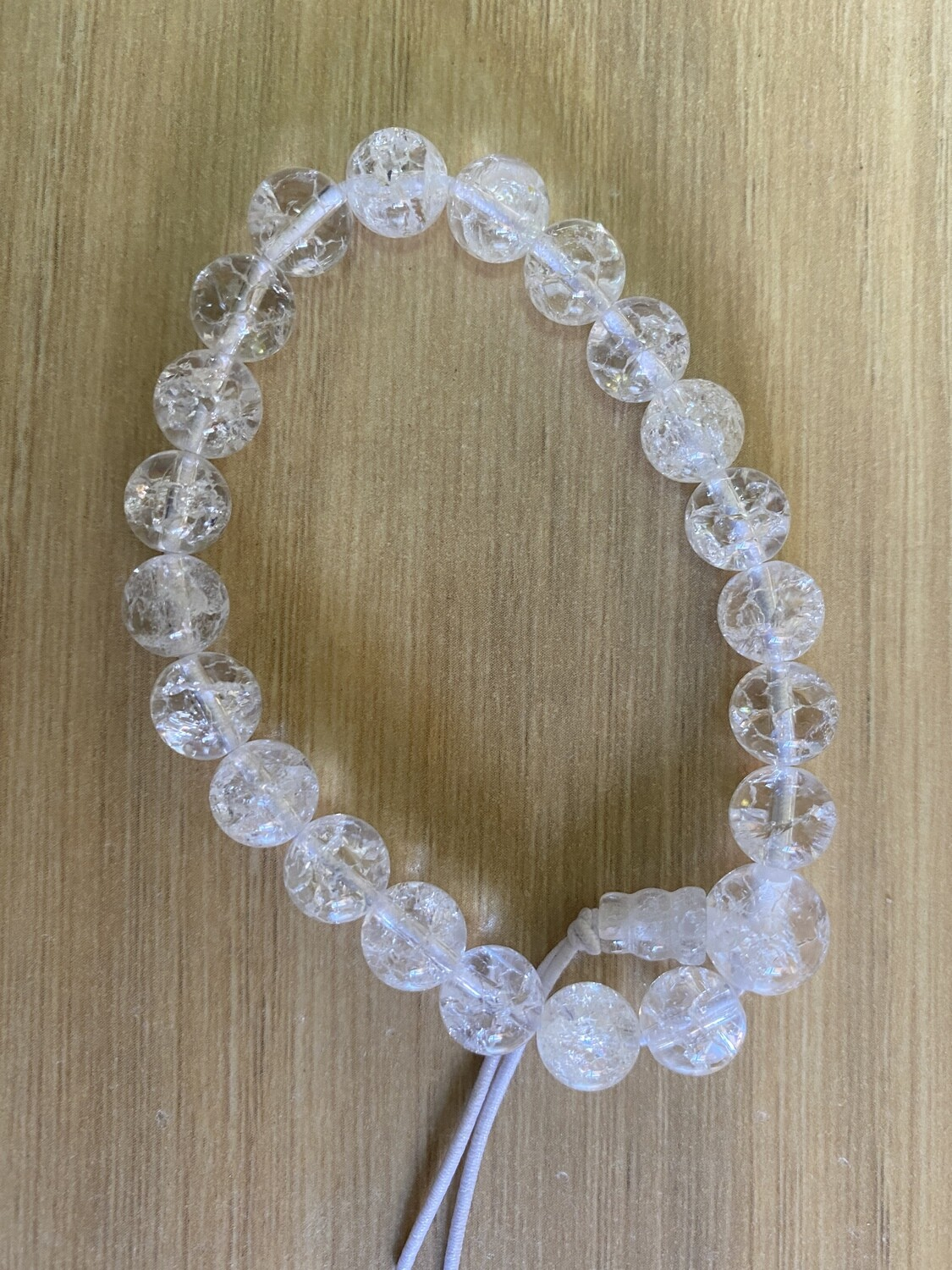 Bead Bracelet: Clear Quartz