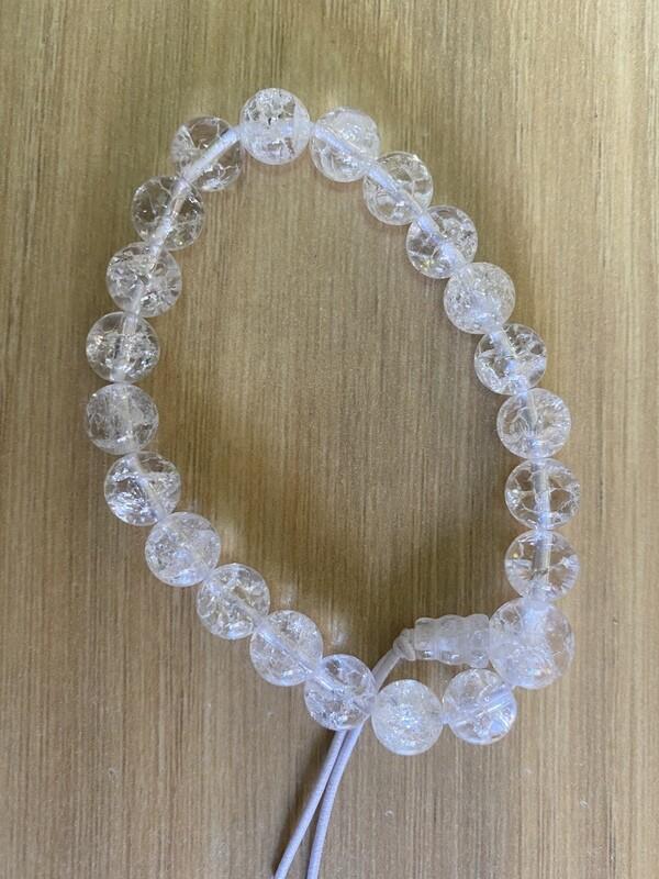 Bead Bracelet: Clear Quartz