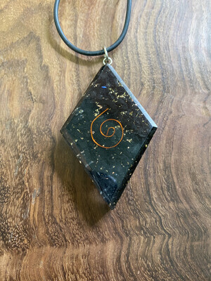 Shungite Orgonite Diamond Pendant