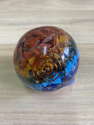 Chakra Orgonite Sphere