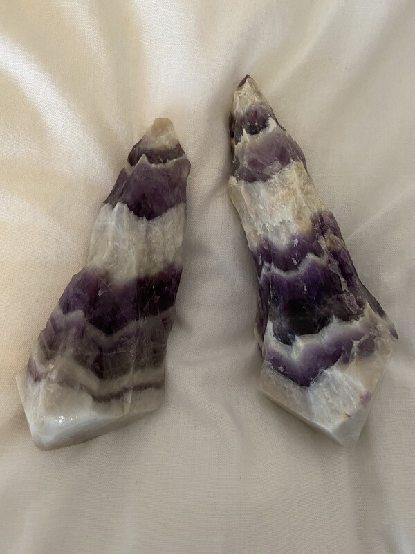 Amethyst Chevron Raw Points