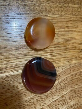 Carnelian Mini Flat Polished Stone
