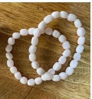 Mangano Calcite Bead Bracelet
