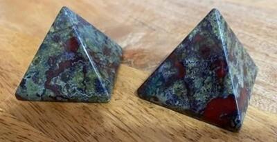 Dragon's Blood Jasper Pyramid