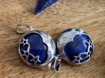 Lapis Lazuli Moon and Star Pendant
