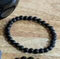 Obsidian bead (sml) bracelet