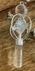 Clear Quartz Merkabah (Light Body) Pendulum