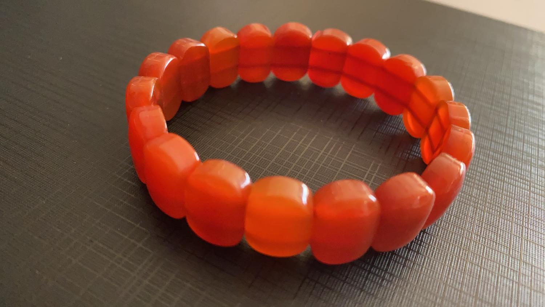 Carnelian Square Oval Bead bracelet