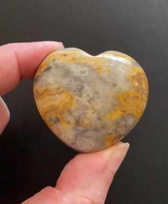 Ocean Jasper 'puff' Heart