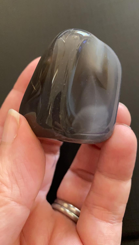 Grey Agate LARGE tumble