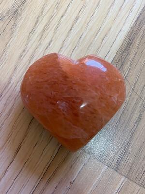 Peach Aventurine Heart