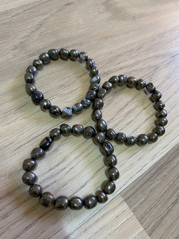 Pyrite Bead Bracelet