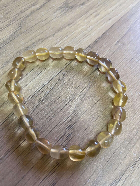 Yellow Fluorite Bead Bracelet