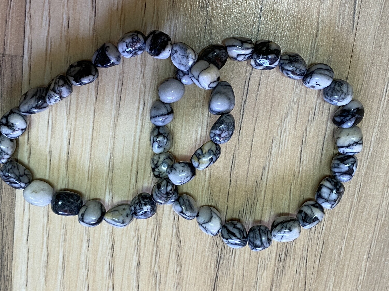 Pinolith bead bracelet