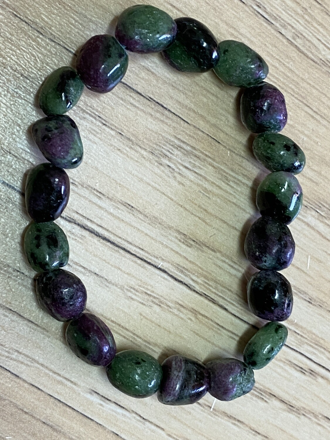 Ruby in Zoisite bead bracelet