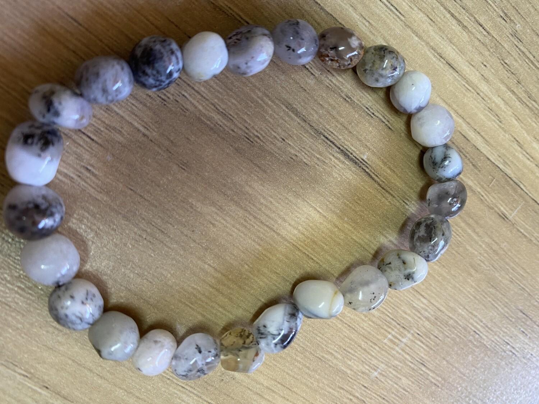 Merlinite bead bracelet