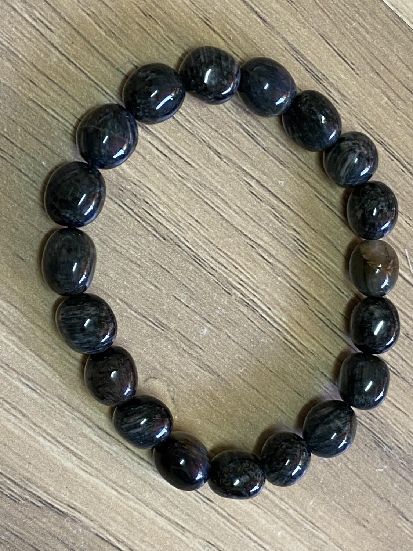 Blue Tiger's Eye bead bracelet