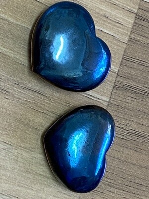 Cobalt Aura Quartz Heart