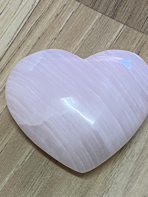 Mangano Pink Calcite Heart