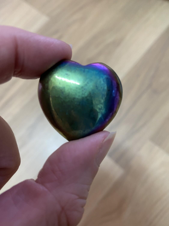 Pyrite Aura quartz Heart