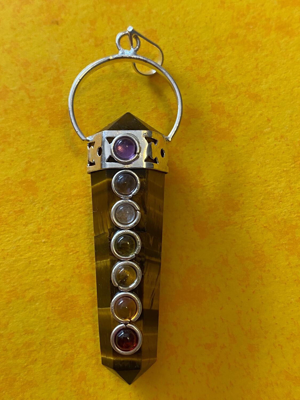 Gold Tiger's Eye Chakra Pendant
