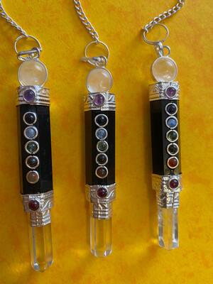 Black Tourmaline Chakra Pendulum