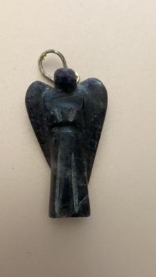 Iolite Angel Pendant