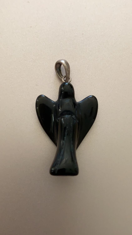 Obsidian Angel Pendant