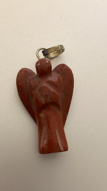 Red Jasper Angel Pendant