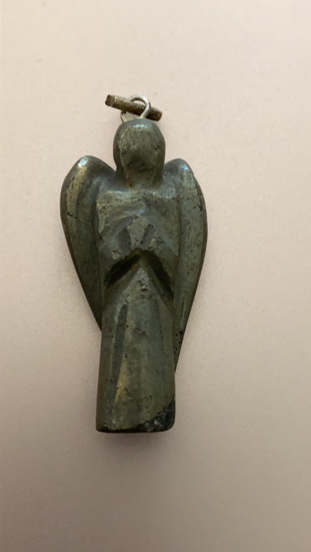 Pyrite (Fool's Gold) Angel Pendant