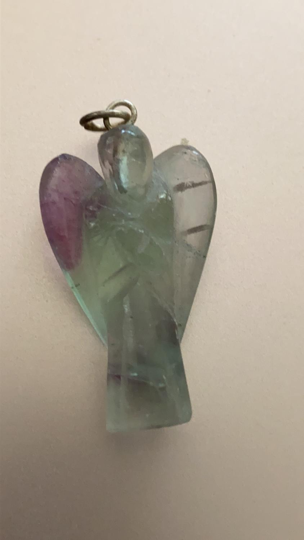 Fluorite Angel Pendant