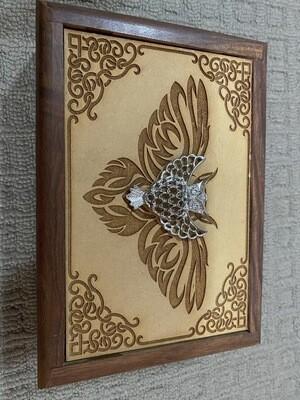 Metal Owl Tarot/Oracle Card Box