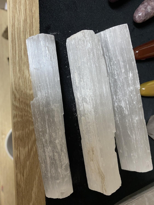 Selenite Raw Wand (small)