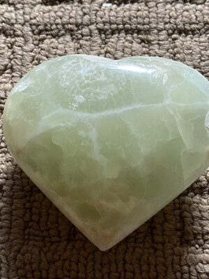 Pistachio Calcite heart