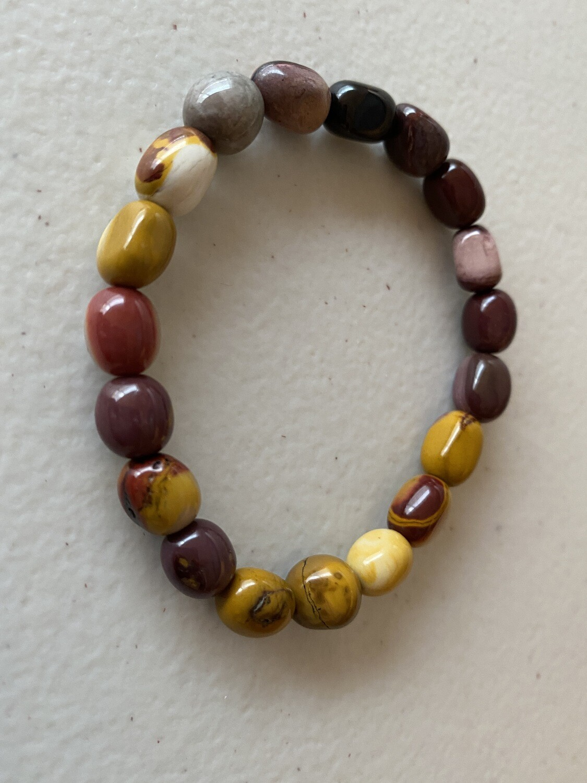 Mookaite Jasper bead bracelet