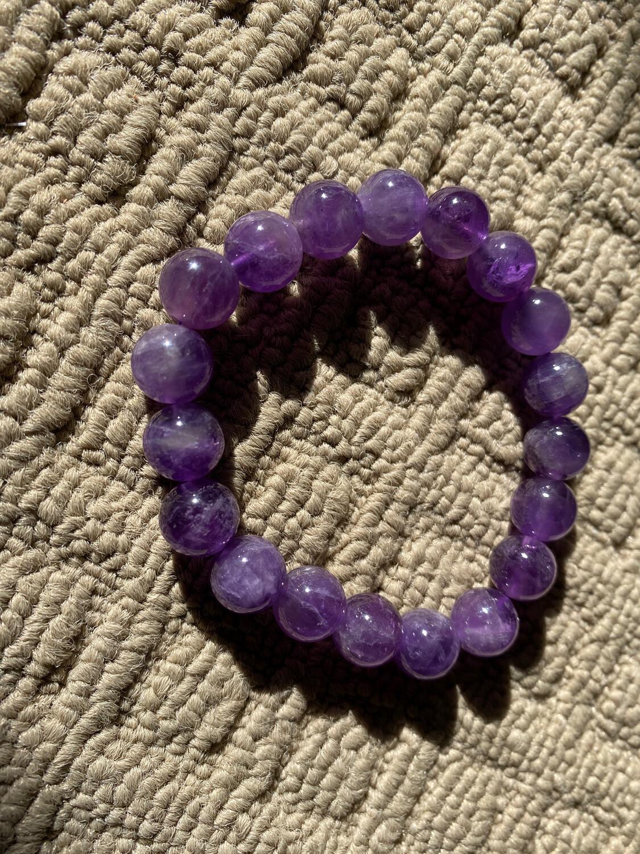 Amethyst Medium Bead bracelet