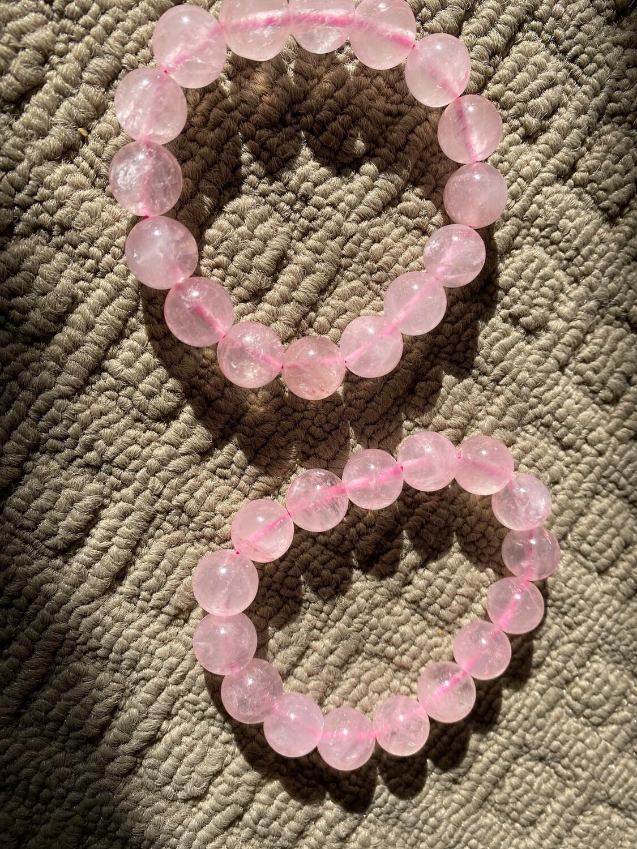 Rose Quartz Medium Bead bracelet