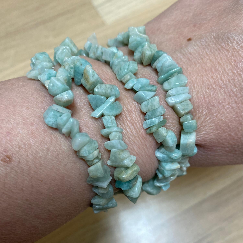 Chip Bracelet: Amazonite