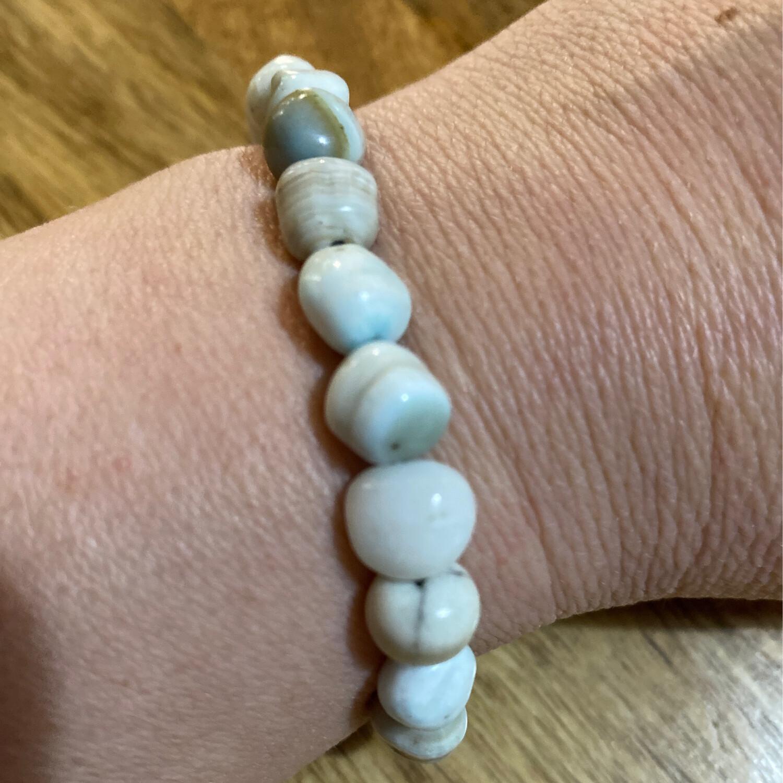 Hemimorphite Bead Bracelet