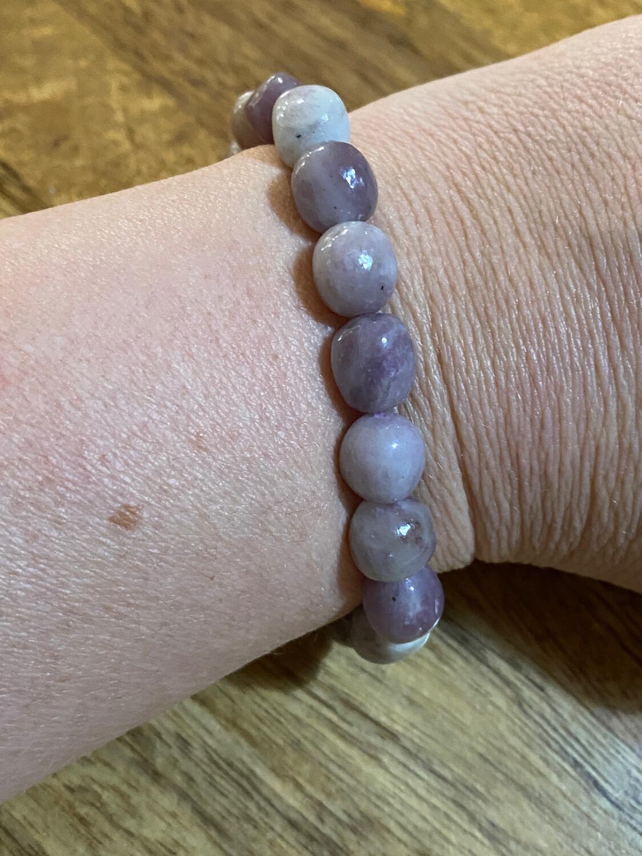 Pink Tourmaline (Rubellite) Bead Bracelet